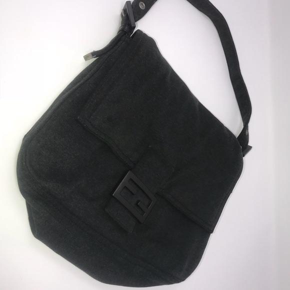 bc4689fc62 Fendi Handbags - Fendi Vintage Dark Grey Shoulder Bag